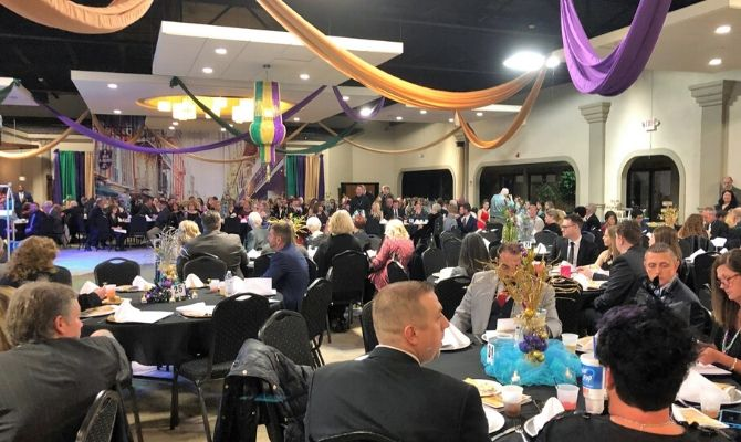 Guests seated at Mardi Gras 2019 fundraiser event