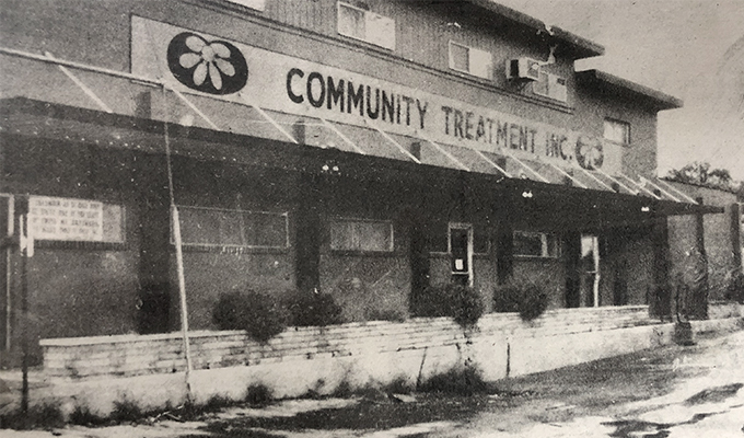 Community Treatment, Inc. building in black and white from the 1970s
