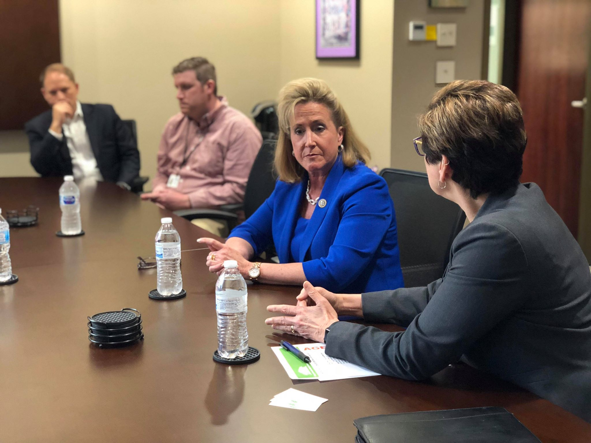 Sue Curfman, CEO of COMTREA, speaks with Congresswoman, Ann Wagner on the Opioid Crisis.